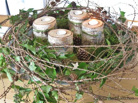 Weihnachtsdeko Aus Dem Garten by Adventskranz Holunderbluetchen 174 Er Besteht Aus