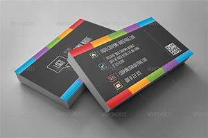 dark rainbow business card by eldis design graphicriver With rainbow business card