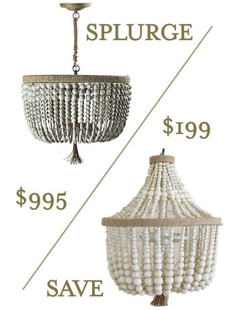 splurge vs save beaded chandelier effortless style