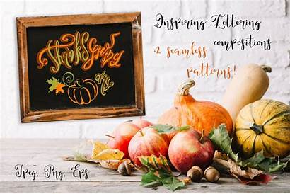 Thanksgiving Decoration Holiday Lettering Compositions Decorat Creative