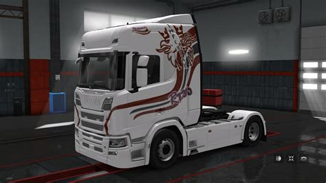 scania   truck skin pack  blackwolf euro truck