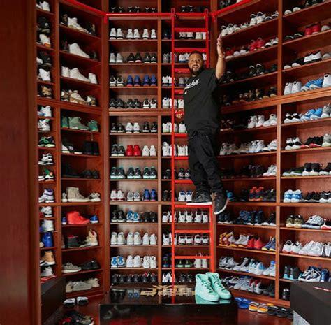 mens shoe closet check out dj khaled s shoe closet