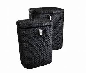 Wäschekorb Mit Deckel : 2tlg set w schebox mit deckel schwarz w schekorb aufbewahrungsbox w schetruhe ebay ~ Frokenaadalensverden.com Haus und Dekorationen