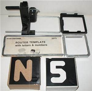 Router letter template ebay craftsman router template set to rout upper case block numbers letters ebay spiritdancerdesigns Image collections