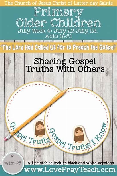 Gospel Week Lord Called Testament Children July