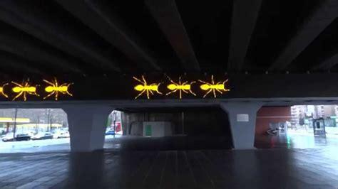 tramway porte de pantin œuvre d les fourmis station de tramway porte de pantin