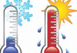The Change In Temperature Clipart