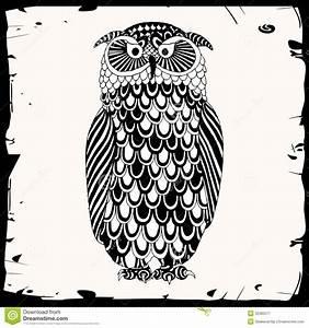 Owl illustration stock vector. Illustration of tree ...