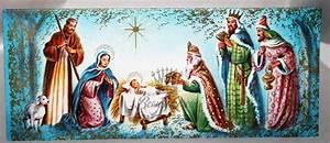 Unused Nativity Three Wisemen Mary Joseph Baby Jesus 50s ...