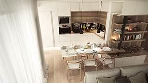 deco salle a manger 15 idees et exemples d39amenagement With idee deco cuisine avec cuisine scandinave design
