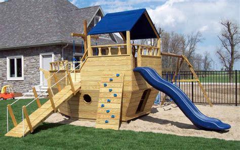 Wood Playground Equipment  Jim's Amish Structures