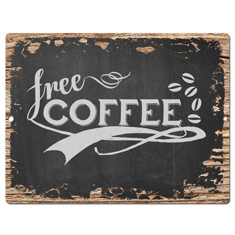 coffee signs for kitchen pp0399 rust free coffee sign shop cafeteria