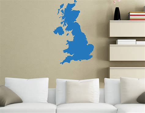 great britain map vinyl wall sticker contemporary wall