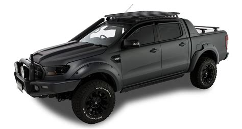 ford ranger px wildtrakfx dr ute double cab  roof rails removed  rhino rack