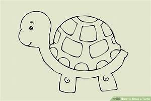 4 Ways to Draw a Turtle - wikiHow