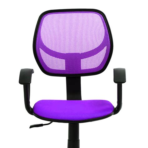 purple swivel executive office computer desk chair mash