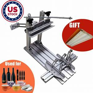 Us Stock Manual Cylinder Screen Printing Press For Pen