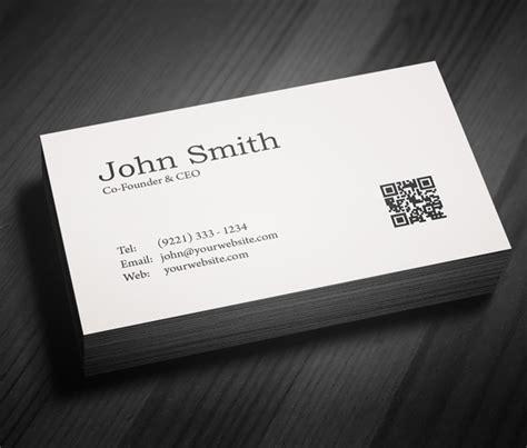 minimal business card psd template freebies