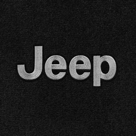 jeep front logo jeep wrangler ultimat carpet 2pc front floor mat set