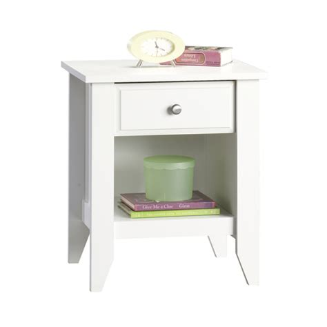 cheap white night tables cheap sauder white jamocha wood nightstand from lowes