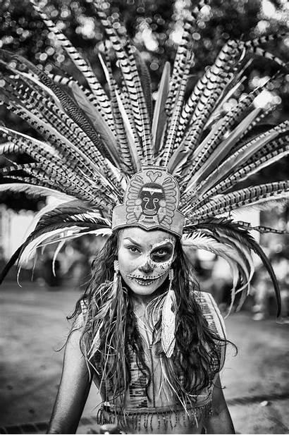Aztec Los Dia Muertos Dancer Angeles American