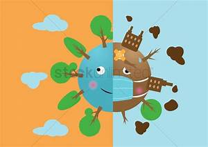 Deforestation and afforestation Vector Image - 1302682 ...