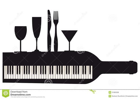 Piano Keyboard And Party Royalty Free Stock Photos
