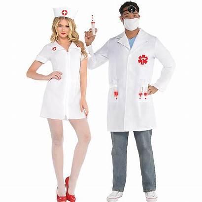 Nurse Doctor Costumes Shot Hospital Adult Couples