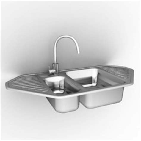 kitchen sink model kitchen ware 3d models sink n191007 3d model gsm 2790