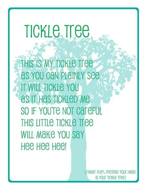 naptime delights preschool song printable tickle tree 632 | cf538851b1d75a45f538c9262f86db1b
