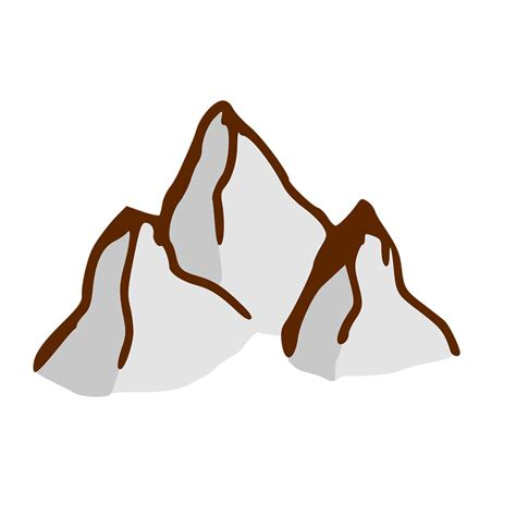 cartoon transparent mountain free stock photo illustration of a small