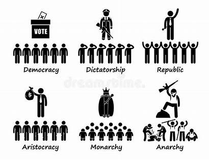 Government Type Different Types Cliparts Icons Dictatorship
