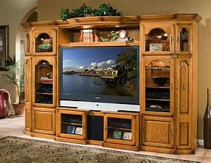 oak 4 piece expandable home theater center wall unit With oak home theater furniture
