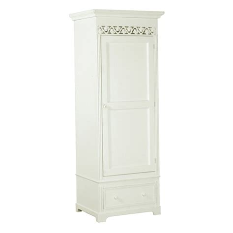 Single White Wardrobe by Belgravia Chic Single Wardrobe White