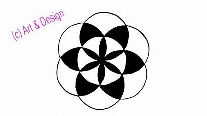Circle Drawing Simple Draw Pattern Compass Step