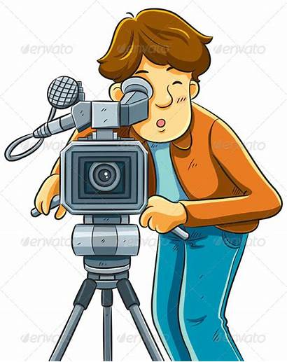 Camera Movie Shoot Cinema Cameraman Cartoon Gambar