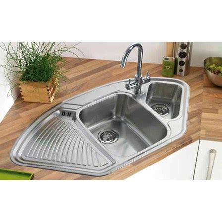 bowl corner kitchen sink astracast lausanne 1 5 bowl corner sink pack waste kit 8798