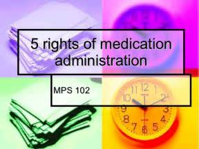 5 Rights Medication Administration