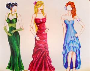 Prom Dresses Sketch | Fashion Belief