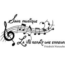 Sans La Musique La Vie Serait Une Erreur by Sticker Sans Musique La Vie Serait Une Erreur Friedrich