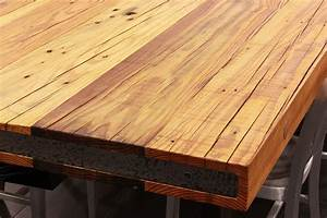 Sir Belly - Rustic Heart Pine Table Top - CADdetails