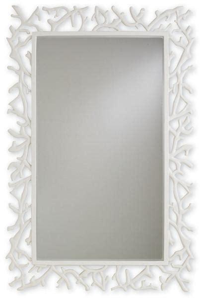 coral pink bamboo border mirror