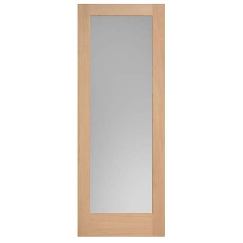doors interior home depot masonite 40 in x 84 in maple veneer 1 lite solid wood