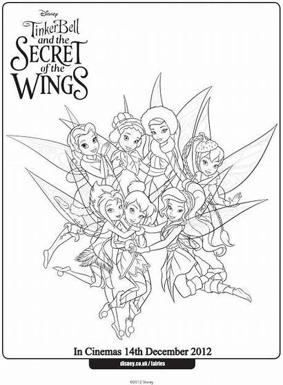 Tinkerbell Coloring Fairy Pages Fairies Colouring Disney