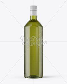 Mockup is made in high resolution. Free Mockups 1L Green Glass Olive Oil Bottle Mockup Object ...