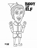 Elf Coloring Pages Buddy Movie Christmas Shelf Elves Ferrell Jovie Printable Print Adults Colouring Books Mcillustrator Pdf Drawings Zooey Deschanel sketch template
