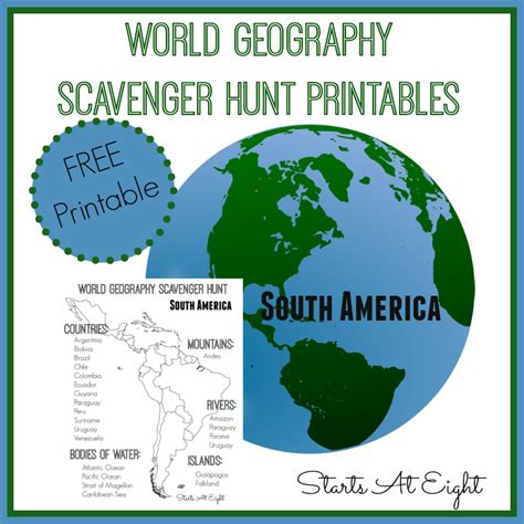 world geography scavenger hunt south america free