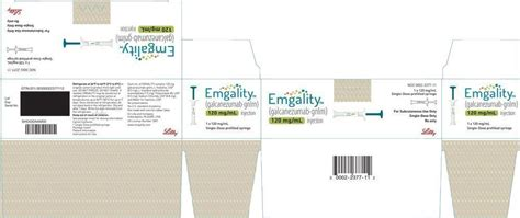 Find patient medical information for emgality pen subcutaneous on webmd including its uses, side effects and safety, interactions, pictures, warnings and user ratings. Emgality - FDA prescribing information, side effects and uses