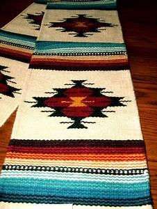 table runner handwoven wool 10x80 quot southwestern