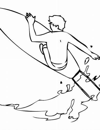 Coloring Surfing Pages Surf Printable Surfer Tabla
